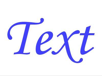 Как перевести текст в кривые
