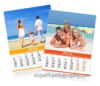 Календарная сетка 2016 для перекидного календаря. CorelDRAW