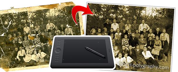 Ретушь фото на планшете Wacom Intuos 5