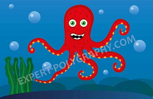 Рисуем осьминога на планшете Wacom Intuos 5