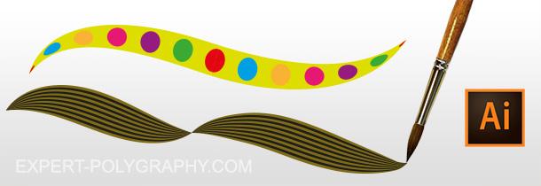 Рисование собственными кистями в Adobe Illustrator