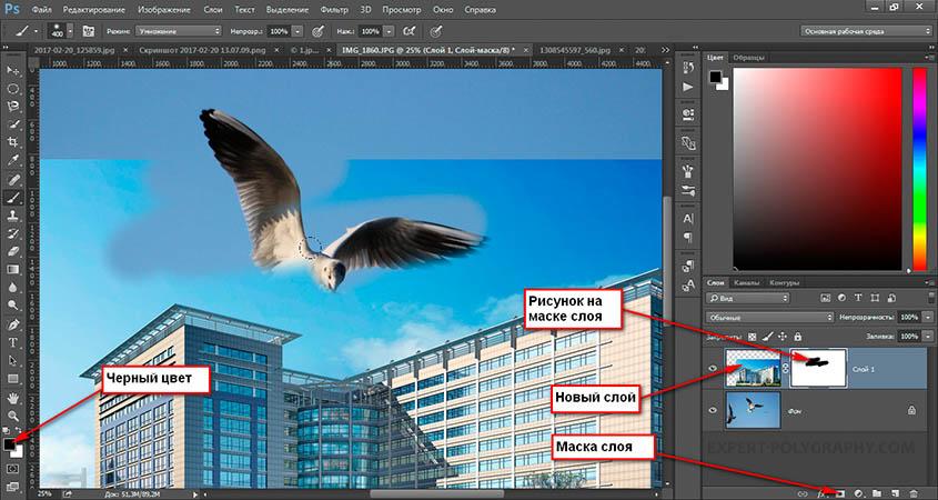 Как закрасить фон в фотошопе